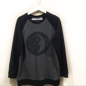 Kendall +  Kylie lunar stars graphic sweater med